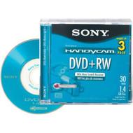Sony 8CM DVD Plus Rw With Hangtab 3 Pack 3DPW30R2H - EE689325
