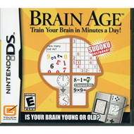 Brain Age For Nintendo DS DSi 3DS 2DS With Manual and Case - EE689445