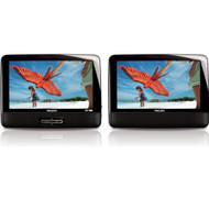 Philips PD9012/37 9-inch LCD Dual Screen Portable DVD Player Black R - EE691899