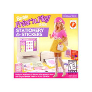 Barbie Print 'N Play Stationery And Stickers Software - EE694851