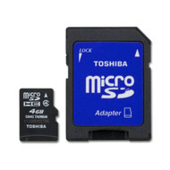 Toshiba 4GB Micro SDHC Card With Std Adapter SD-C04G2T2TRT - EE697320