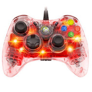 Afterglow Wired Controller For Xbox 360 Red Clear PL-3702 - EE697916
