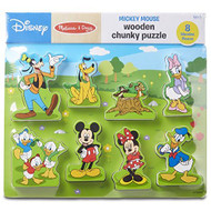 Melissa And Doug Disney Mickey Mouse Clubhouse Wooden Chunky Puzzle 8 - EE698716