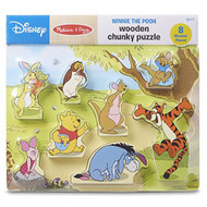 Melissa And Doug Disney Winnie The Pooh Wooden Chunky Puzzle 8 PCS Toy - EE698718