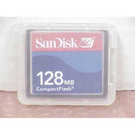 128MB SanDisk Cf Compact Flash Card SDCFB-128 Or SDCFJ-128 Cav For Ps - EE699400