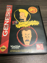 Beavis And Butt-Head For Sega Genesis Vintage With Manual And Case - EE699654