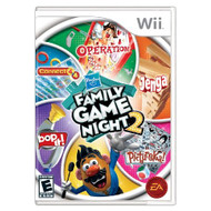 Hasbro Family Game Night 2 For Wii Board Games With Manual and Case - EE700839