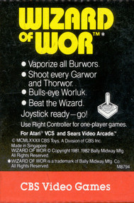 Wizard Of Wor For Atari Vintage - EE701243