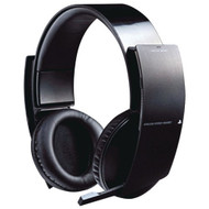 Wireless Stereo Headset For PlayStation 3 PS3 Microphone Mic Black - EE701923