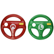 Hori Mario Kart 8 Racing Wheel Set Mario And Luigi U For Wii Multi - EE702356