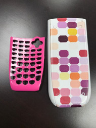 Ti 84 Plus Checkered Cover And Purple Faceplate FWS873 - EE703726