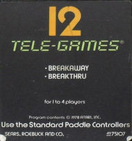 Sears Tele-Games Breakaway IV 2600 Cartridge Ands For Atari Vintage - EE705857