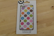 iConcepts Protective Case For iPhone 5 5S SE Polka Dots Cover White - EE706617