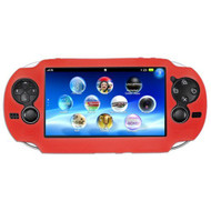 Skque Silicone Soft Skin Case Cover For Sony Ps PlayStation Vita Red - EE707074