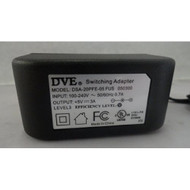Dve AC Adapter Power Supply 5V 3A Model: DSA-20PFE-05 Fus 050300 Wall - EE707462
