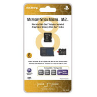 8GB Memory Stick Micro Media M2 Duo Adaptor Sony For PSP UMD Card - EE708378