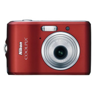 Nikon Coolpix L18 8MP Digital Camera With 3X Optical Zoom Ruby Red - EE708682