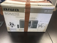 Aiwa Sound XR-M171 Speaker CD Stereo System Silver - EE709695