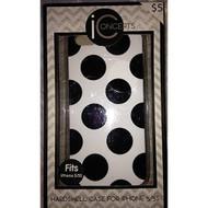 I Concepts Hardshell Case For iPhone 5 5S SE Black/white Polka Dot - EE709726
