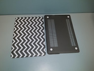"Black And White Chevron Snap On Protective Plastic For Macbook Air 13"" - EE709793"