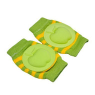 Baby Crawling Knee Pad Toddler Elbow Pads Stripe Green Apple Pads - EE690972