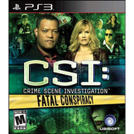 CSI: Fatal Conspiracy For PlayStation 3 PS3 - EE711150