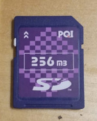 PQI SD Card 256MB Secure Digitial Memory Card UUR691 - EE711259