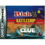 Risk / Battleship / Clue GBA Game Boy Advance Only No Game Nintendo - EE713943