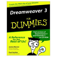DREAMWEAVER3 For Dummies Computers By Warner Janine Vachier Paul Book - D568788