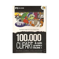 100 000 Clipart & Webgraphics Volume 1 PC UK Import Software - DD573538