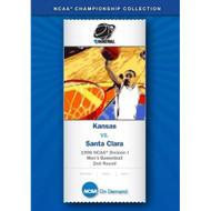 1996 NCAAr Division I Men's Basketball 2nd Round Kansas Vs Santa Clara - DD581219