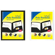 Bazic 2-POCKETS Poly Portfolio W/ View Cover - DD629861