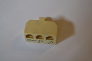 3 Way Plastic Modular Adaptor L1 L2 L1-2 Telephone - EE484399
