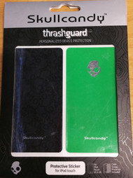 Skullcandy Thrash Guards For iPod Touch 2G 3G With Silver Skull Green - EE508388