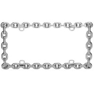 Valor Auto Companion LPF1R003 Chrome Coating Metal License Plate Frame - EE535577