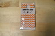 Gems Samsung Galaxy S5 Case Orange/white Zigzag - EE564619