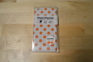 Gems iPhone 6 Plus White/Orange Polka Dots Includes Two Home Buttons - EE564629