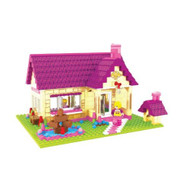 2 Item Bundle: Brictek Fairyland Townhouse 457 Pcs Building Blocks - EE579670