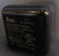 Ktec USB AC Adapter KSAPK0110500210FU No USB Cable Black Wall Power - EE605799