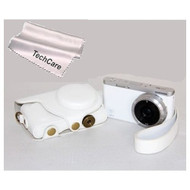 """TechCare Ever Ready"""" Leather Camera Case CoverMini 9MM Lens White Case - EE608986"""
