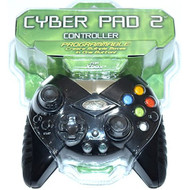 Cyber Pad 2 Black Programmable Controller For Xbox Original - EE621289