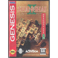 Shanghai II Dragon's Eye For Sega Genesis Vintage With Manual and Case - EE622806