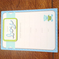 3D Baby Boy Baby Shower Invitation 8 Count  - DD630209