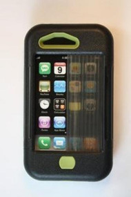 iPhone 3 Case Black W/ Olive Accents Cover Fitted - EE521652