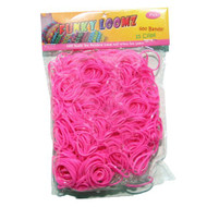 Funky Loomz Rubber Band Refills 600 Bands +25 S-Clips Pink - EE532484