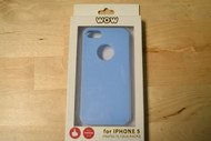 WoW iPhone 5 5S SE Rubber Protective Soft Touch Shell Case Blue - EE563114