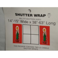Candle Christmas Holiday Shutter Wrap Set Of 2 - DD585536