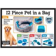 Charlie Blue 12 Pice Pet In A Bag Set Large Nesting - EE536388