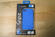 Life Works Gripz Firm Hold For iPhone 4/4S Blue Case - EE564089