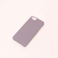 Zigzag Print Case For iPhone 5 5S SE Purple/White Cover Fitted - EE526829
